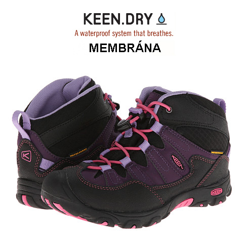 KEEN Pagosa Mid WP Jr blackberry US5/EU37/23,5 cm